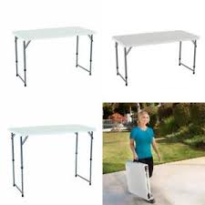 4 foot adjustable height table lifetime 4 foot adjustable height folding utility table 4428 new