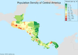 Population Map Population Density Of Central America Oc 3507x2480 Mapporn