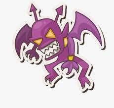 vicious demons purple scary yellow eyes png image for free download