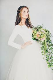 plain wedding dresses picture of simple wedding dress with a plain top and a tulle skirt