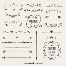 calligraphic ornaments vectors photos and psd files free