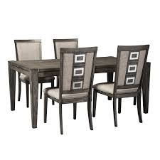 Ashley Dining Room Table And Chairs by Signature Design By Ashley Chadoni 5 Piece Contemporary