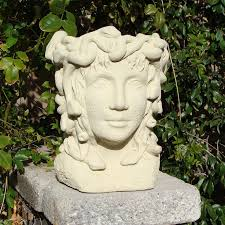 amazon com designer stone medusa head planter bust planters