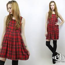 90s dress vintage 90s plaid babydoll dress s m from everybody s buying