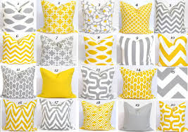 yellow gray pillow sale pillows 16x16 inch decorator pillow