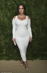 white bodycon dress graham stuns in white bodycon dress in nyc daily mail online