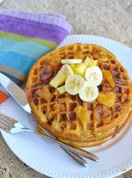 pineapple banana upside down waffles jolly tomato