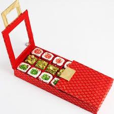 indian wedding mithai boxes ghasitaram s sugarfree buckle mithai box online shopping for