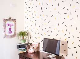 Washi Tape Wall by