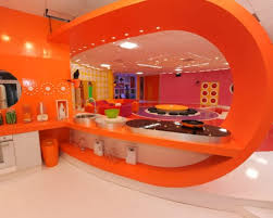 cuisine orange et gris decoration cuisine orange et vert idées de décoration capreol us