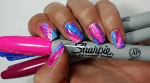 sharpie watercolor nail art youtube
