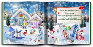 personalized christmas for kids personalized christmas book with photo and name my custom kids books