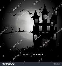 halloween scary haunted house happy halloween party celebration scary haunted stock vector