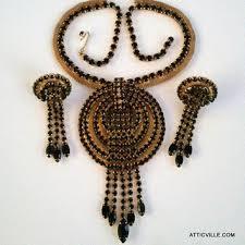 black rhinestone necklace images Best vintage mesh rhinestone necklace products on wanelo jpg