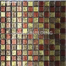 gold foil glass mosaic tiles resplendent home decor tiles modern