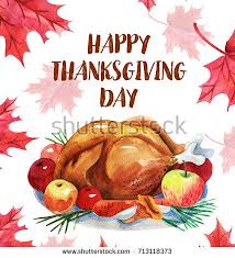 happy thanksgiving greeting card turkey letteringcanadian stock