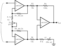 lmc6001 precision op amps operational amplifiers png electrical