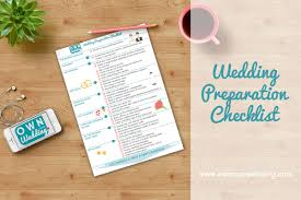 things to plan for a wedding wedding preparation checklist own your wedding