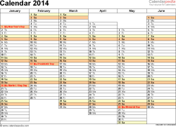 2014 calendar 13 free printable word calendar templates
