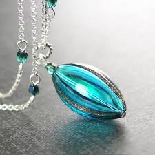 blue glass pendant necklace images Best hand blown glass pendant necklace products on wanelo jpg
