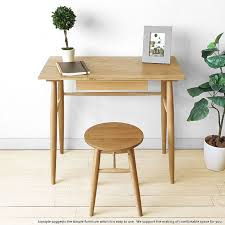 Computer Desk Depth Joystyle Interior Rakuten Global Market Width 80 Cm Oak Wood