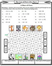 adding and subtracting integers puzzle mystery activity by ready