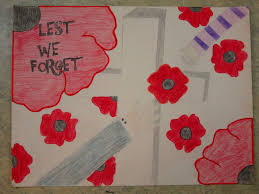 drawn poster remembrance day pencil and in color drawn poster