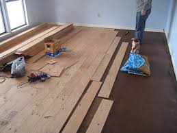 installation wood floor concrete subfloor concrete slab
