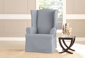 wingback chair slipcovers sure fit heavyweight cotton duck wing chair slipcovers