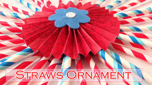 diy crafts straws ornament decorations diy