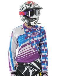 troy lee designs motocross gear troy lee designs purple 2011 gp womens mx jersey troy lee