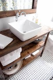 Wood Bathroom Vanity by Best 10 Wood Bathroom Vanities Ideas On Pinterest Rustic Kids