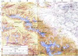 Kunlun Mountains Map Aacz Expedition Aksay 1998
