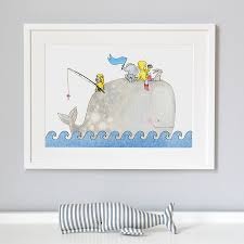 whentworth whale nursery print by daisy u0026 bump nursery art