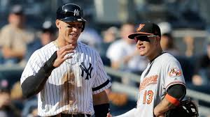 Aaron Judge Joins An Exclusive Club Of Yankees All Stars Pinstripe - yankees aaron judge tells o s manny machado you d look good in