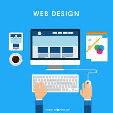 website design free web design desk vector free