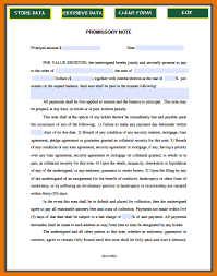 7 promissory note template itinerary template sample