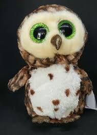 ty beanie boo tinsel snow owl plush toy holidays