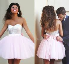 8th grade prom dress tulle ball gown short prom dresses 2015
