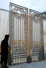 monumental 19thc wrought iron mansion gates for sale