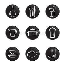 objet de cuisine positionnement d objet de vaisselle de cuisine illustration de