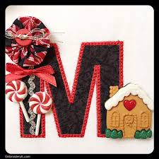 free machine embroidery design last day for rick rack letter m