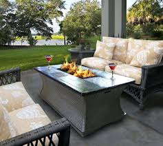 patio furniture with fire pit table last minute deck fire pit table outdoor with rectangle patio and