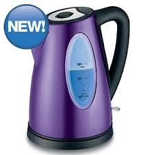 Asda Toasters Asda Illuminated Stainless Steel Fast Boil 1 7l Kettle Purple