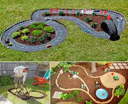 Diy Backyard Playground Ideas Backyard Diy Race Car Tracks Your Kids Will Love Instantly