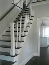 Painted Banisters Two Toned Cording Adds Subtle Detail Between The Front Entry Stair