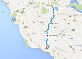 Map Of Persian Gulf Cycling From Shiraz To The Persian Gulf 2cycletheworld