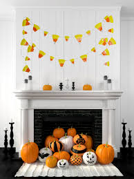 Diy Halloween Wall Decorations Easy Paper Plate Candy Corn Banner Tutorial The Gracious Wife