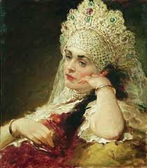 lady with pearl necklace images The girl in pearl necklace c 1880 c 1890 konstantin makovsky jpg