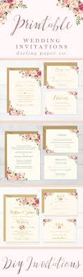 rustic wedding invitation templates best 25 printable wedding invitations ideas on